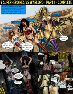 9 Superheroines vs Warlord Ch.1