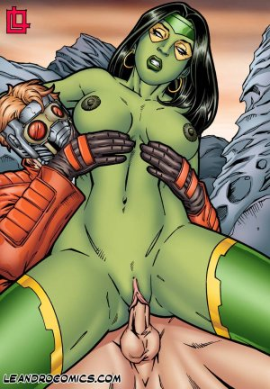 Leandro- Gamora Bounces On Star Lord's Hard Cock