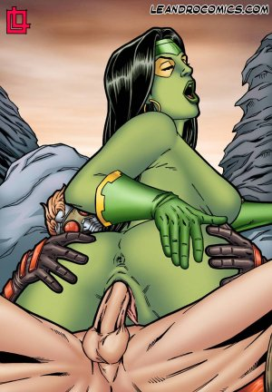 Leandro- Gamora Bounces On Star Lord's Hard Cock - Page 3