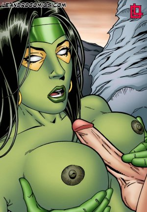 Leandro- Gamora Bounces On Star Lord's Hard Cock - Page 5