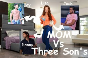 Mom VS 3 Son Fantasy – Brazzers