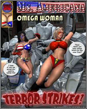 Ms. Americana and Omega Woman-Terror Strikes