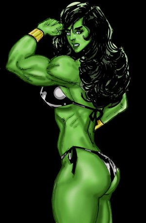 SuperPoser- Green With Lust- Hulk