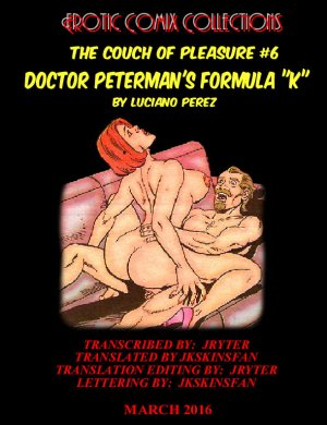 "Couch of Pleasure 6 – Dr. Peterman's Formula ""K"" - Page 1"