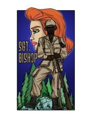 SGT. Bishop- illustrated interracial