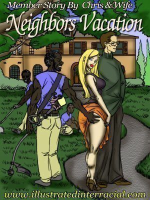 Neighbor's Vacation- illustrated interracial