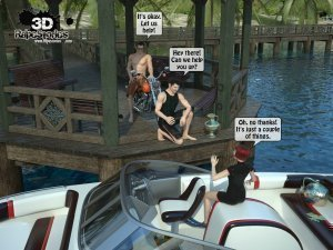 2 Boys Fuck a Woman at Boat- 3D [email protected] Stories - Page 3