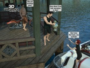 2 Boys Fuck a Woman at Boat- 3D [email protected] Stories - Page 4