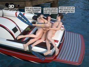 2 Boys Fuck a Woman at Boat- 3D [email protected] Stories - Page 28